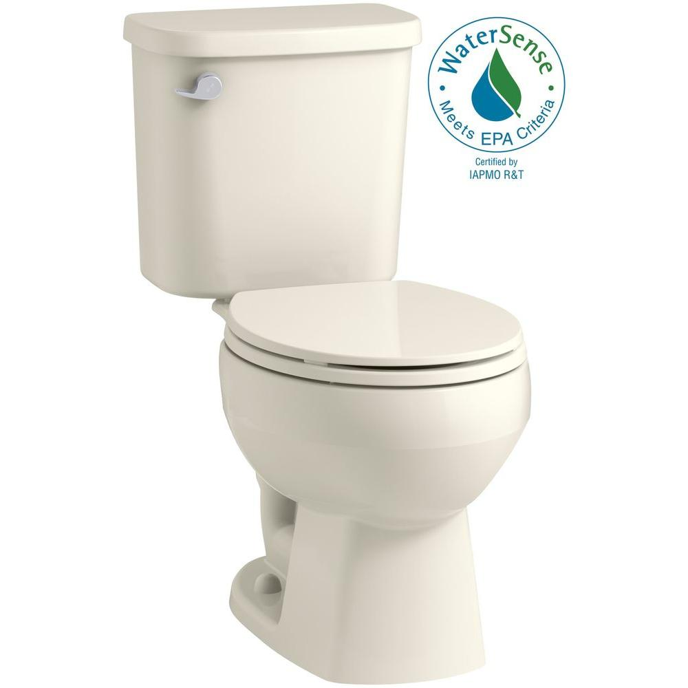 Sterling Windham 2 Piece 1 28 Gpf Single Flush Round Toilet In Biscuit