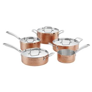 Cuisinart Hammered Collection 9-Piece Copper Classic Cookware Set by Cuisinart
