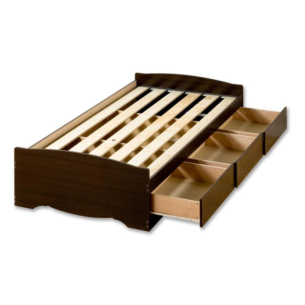 Prepac Fremont Twin Wood Storage Bed EBT-4100-2K