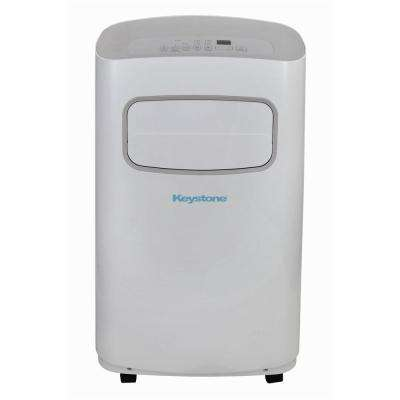 12,000 BTU 115-Volt Portable Air Conditioner with Dehumidifier and Remote in White and Gray