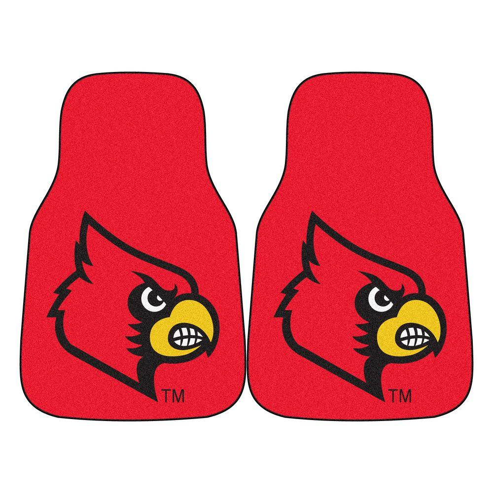 University of Louisville 18 in. x 27 in. 2-Piece Carpeted Car