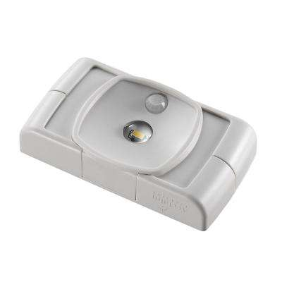 Battery Operated LED Dove Gray Compact Thin Profile Spotlight