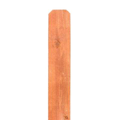 5/8 in. x 5-1/2 in. x 6 ft. Stained Dog Ear Wood Fence Picket (6-Pack)
