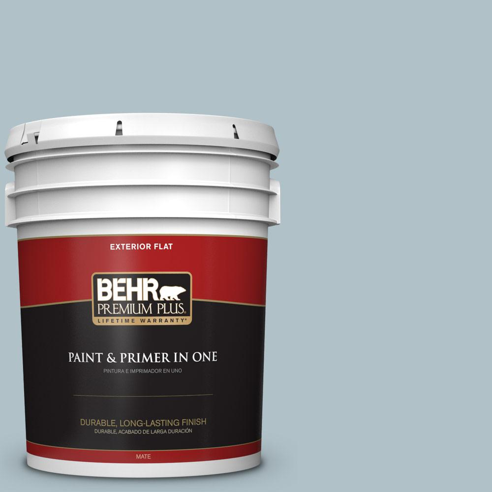 5 gal. #PPU13-14 Ozone Flat Exterior Paint