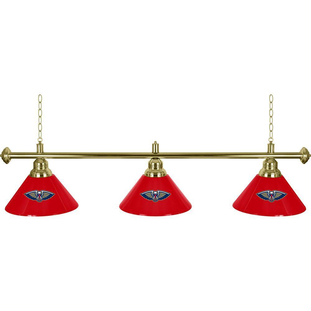 NBA 3-Light New Orleans Pelicans Billiard Lamp