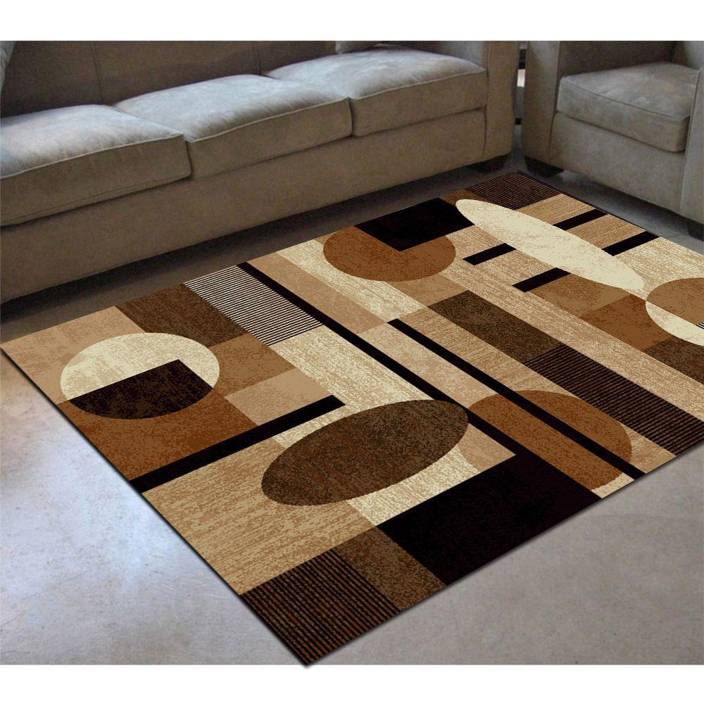 Home Dynamix Tribeca Brown 3 ft. 3 in. x 4 ft. 7 in. Indoor Area Rug