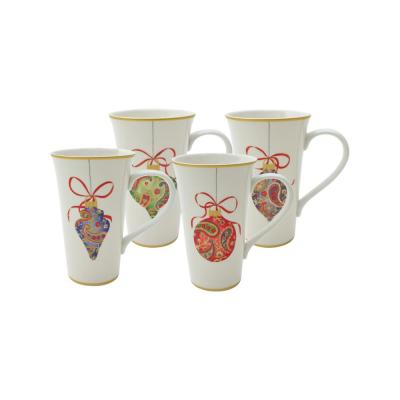 Paisley Ornaments Latte Mugs (Set of 4)