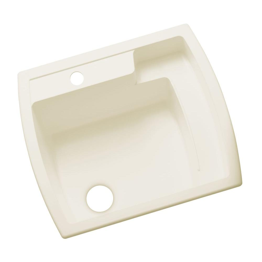 STERLING Latitude 22 in. x 25 in. Vikrell Self-Rimming Utility Sink in Biscuit