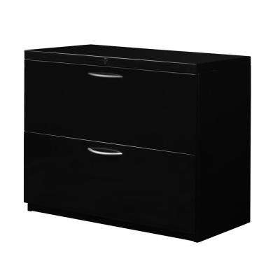 Pendulum Black 30 in. 2-Drawer Lateral File