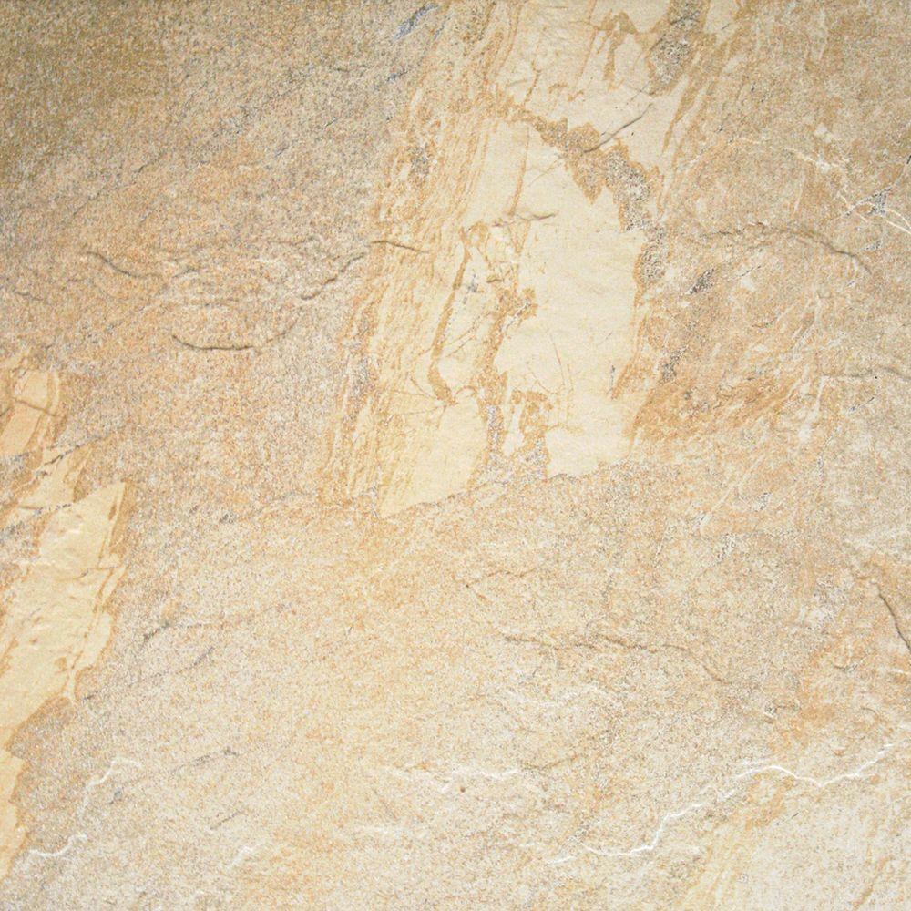 Indooroutdoor Beigecream Floor Tile Flooring The Home Depot