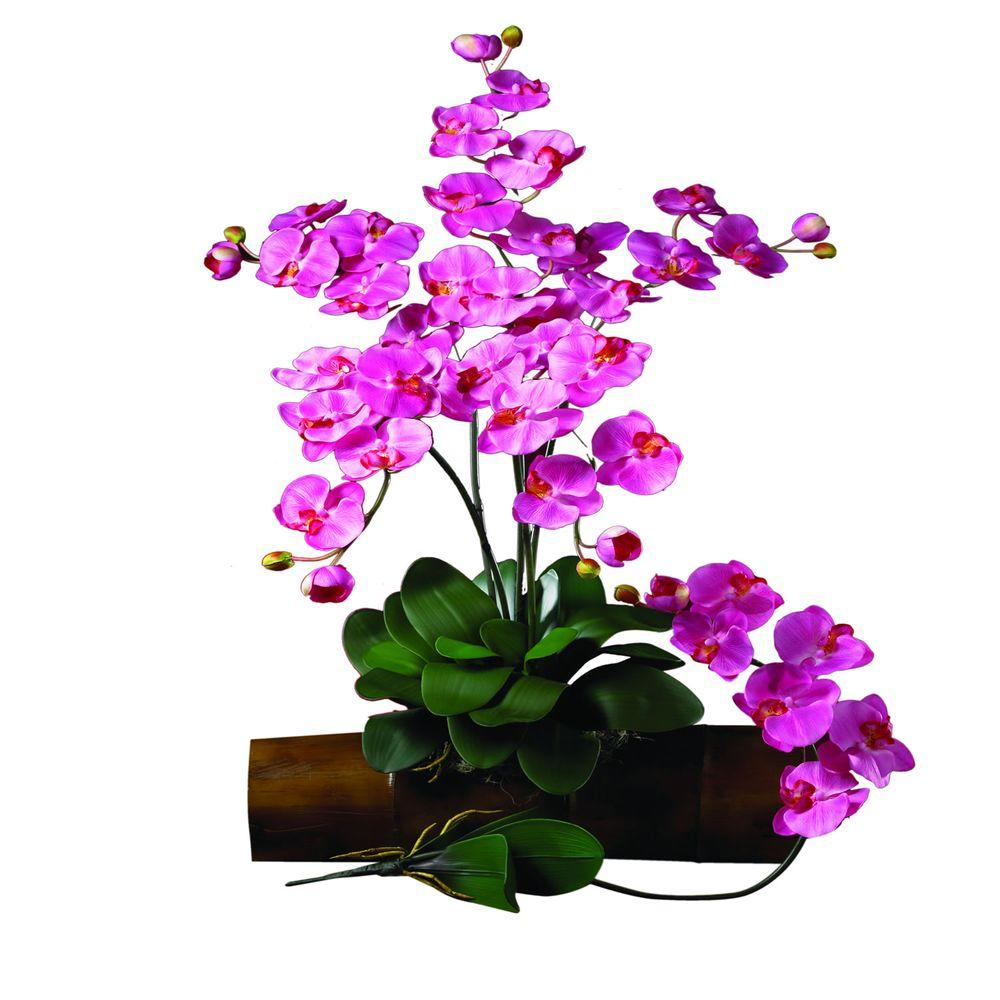 31.5 in. H Dark Pink Phalaenopsis Stem (Set of 12)