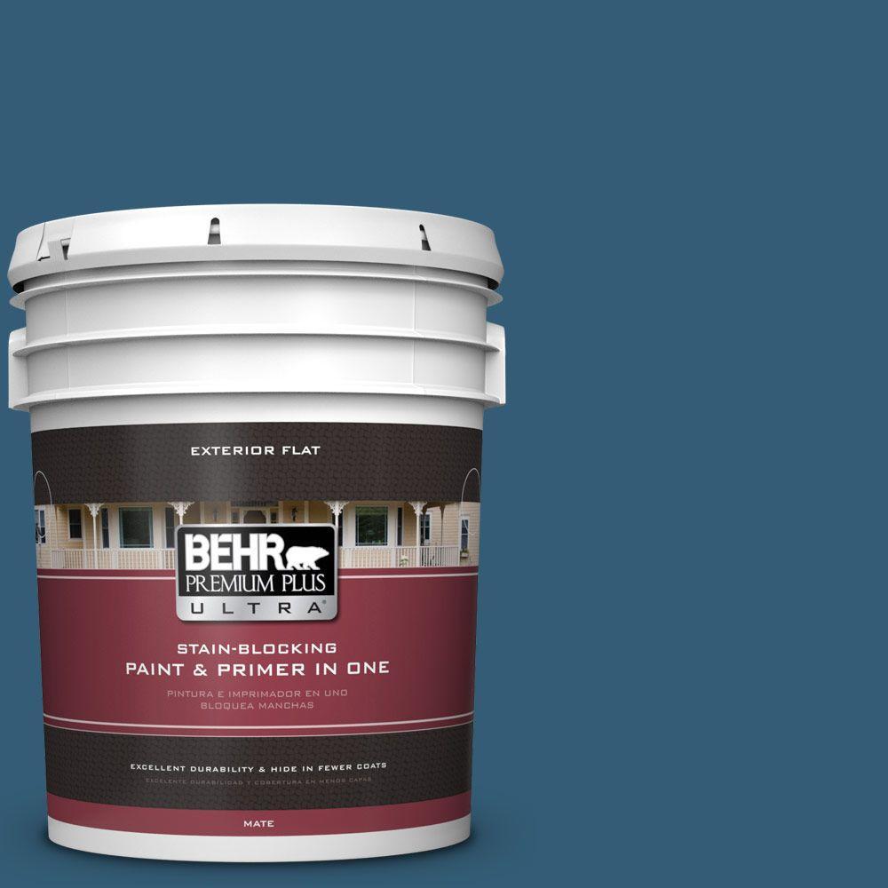 BEHR Premium Plus Ultra 5-gal. #M490-7 Shasta Lake Flat Exterior Paint