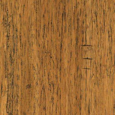 Take Home Sample - Distressed Strand Woven Bamboo Tavern Vinyl Plank Flooring - 5 in. x 7 in.