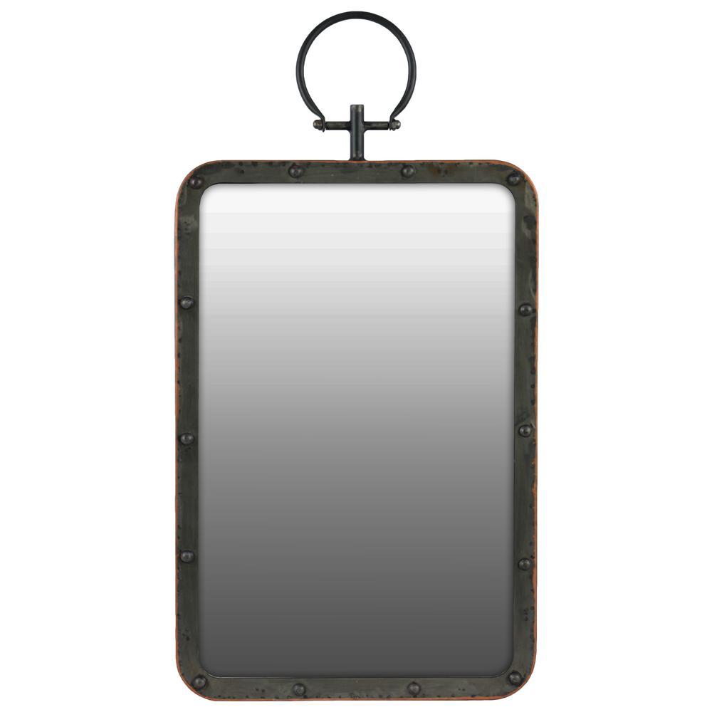 Rectangular Black Gloss Wall Mirror
