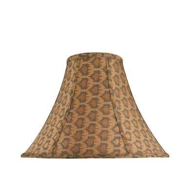 16 in. x 12 in. Pumpkin Gold and Black Accents Bell Lamp Shade