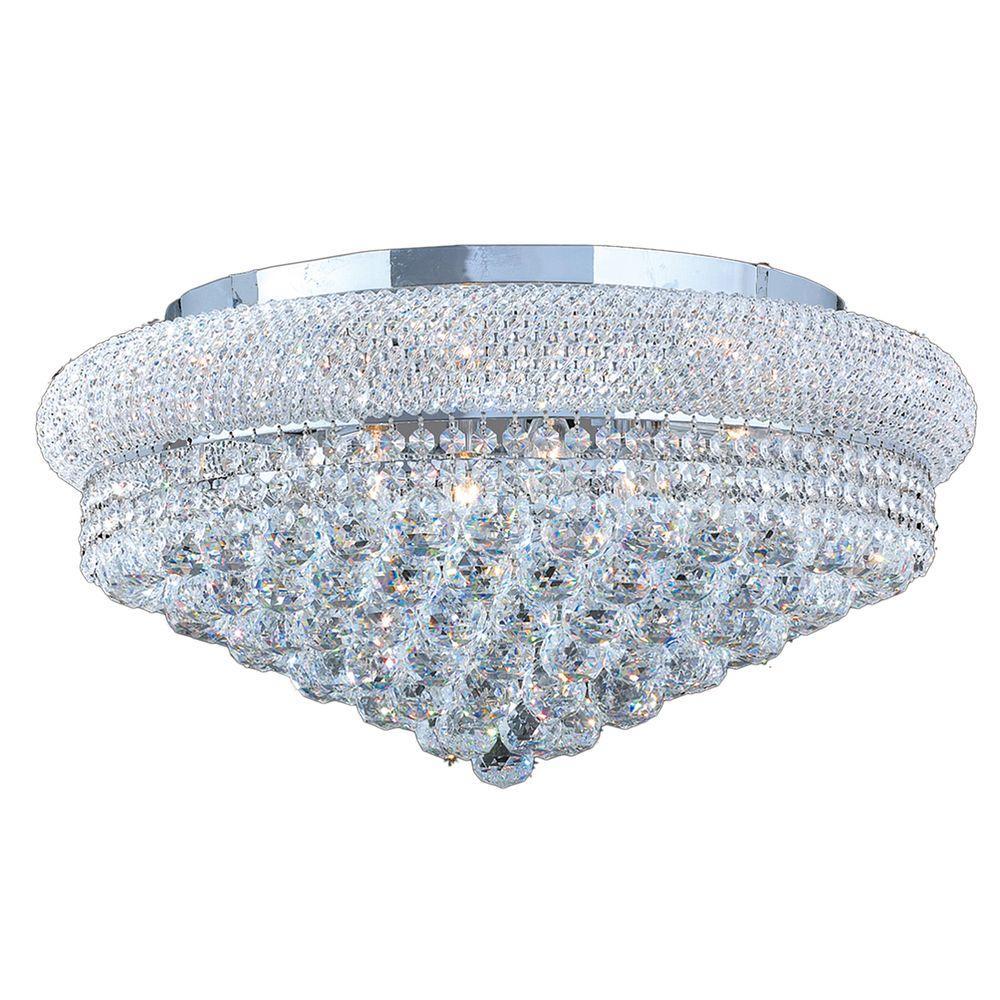 Worldwide Lighting Empire 12-Light Crystal and Chrome Ceiling Light by Worldwide Lighting