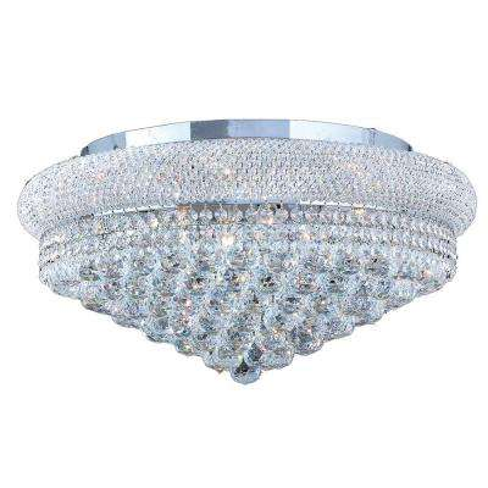 Empire 12-Light Crystal and Chrome Ceiling Light