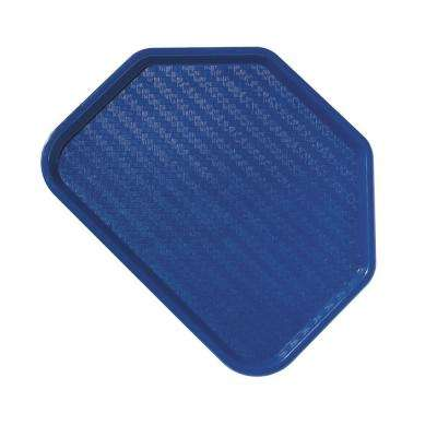 14 in. x 18 in. Polypropylene Serving/Food Court Trapezoidal Tray in Blue (Case of 12)