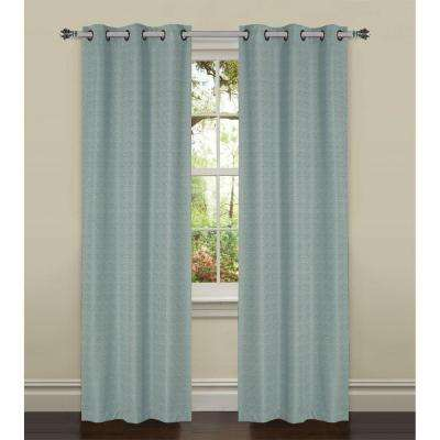 Semi-Opaque York Textured Room Darkening Grommet Curtain Panel