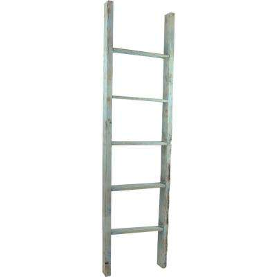 15 in. x 48 in. x 3 1/2 in. Barnwood Decor Collection Weathered Brown Vintage Farmhouse 3-Rung Ladder