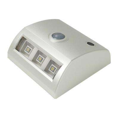 3-Light White Motion Activated Indoor/Outdoor Integrated LED Landscape Path Light