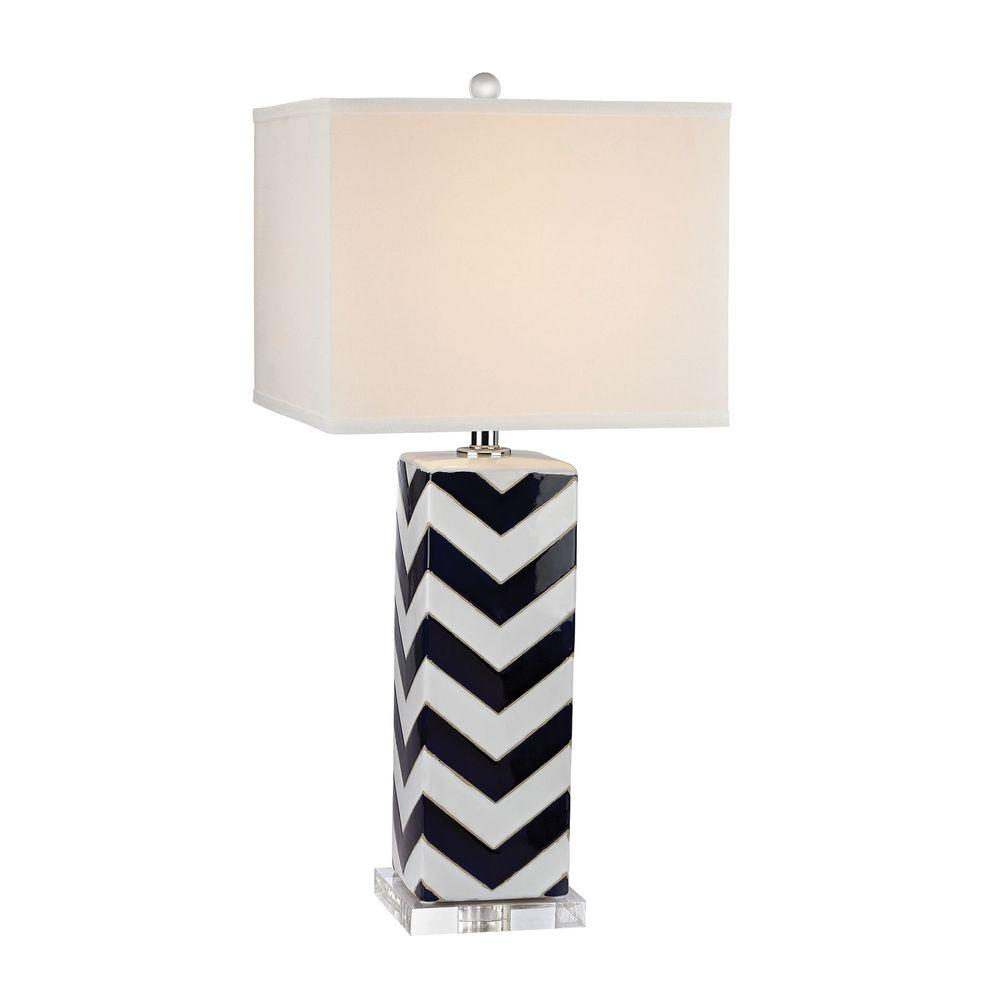 navy table lamp gourd navy table lamp titan lighting chevron 31 in lamptn999142 the home depot