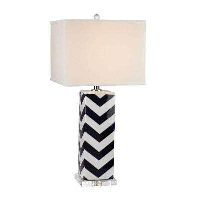 navy table lamp
