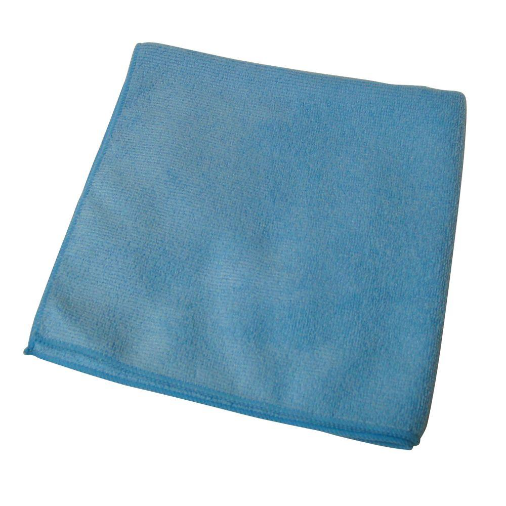 Commercial Grade 16 in. x 16 in. Blue Split Fibers Microfiber