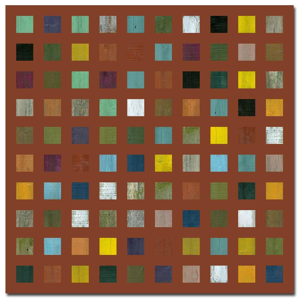 35 in. x 35 in. Rustic Wooden Abstract VII Canvas Art