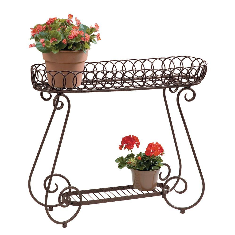 Metal Plant Stand Planter Stands Planters The Home Depot