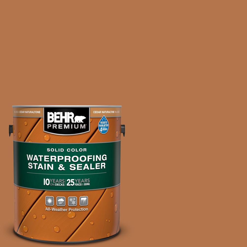 BEHR Premium 1 Gal. #SC-533 Cedar Naturaltone Solid Color