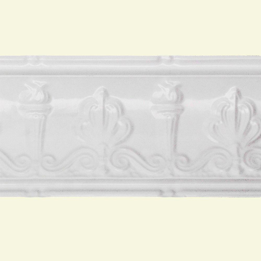 Great Lakes Tin 27 in. Superior Tin Molding in Matte White (2-Pack)