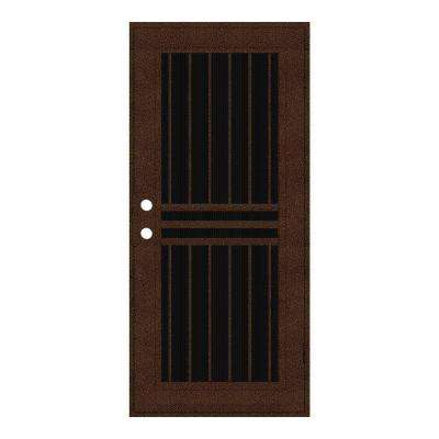 Marvelous Plain Bar Copperclad Surface Mount Aluminum Security Door ...