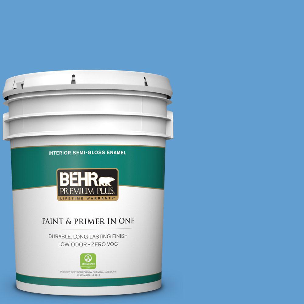 5-gal. #570B-5 Gulf Stream Zero VOC Semi-Gloss Enamel Interior Paint