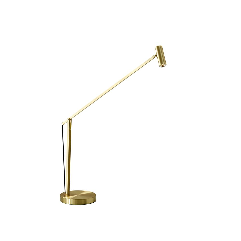 Adesso Ads360 Crane 32 In Integrated Led Gold Desk Lamp Ad9100 04 The Home Depot