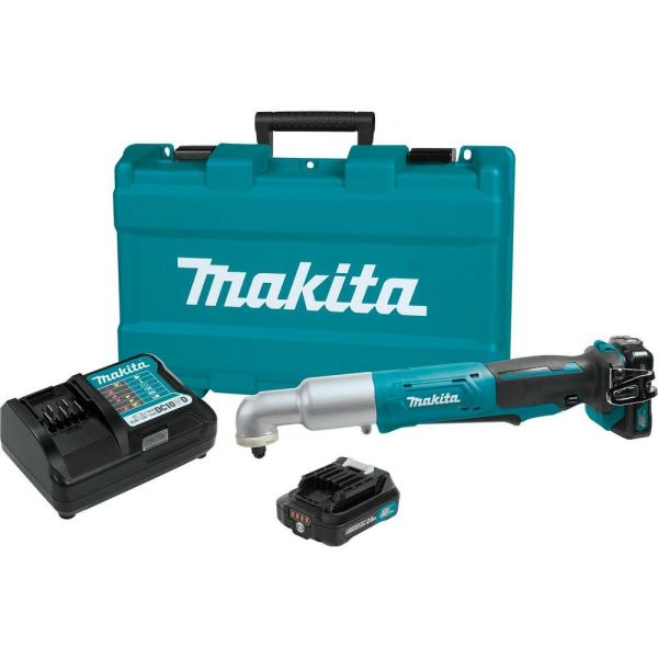 Makita 12-Volt MAX CXT Lithium-Ion Cordless 3/8 in. Angle Impact Wrench Kit 2.0Ah
