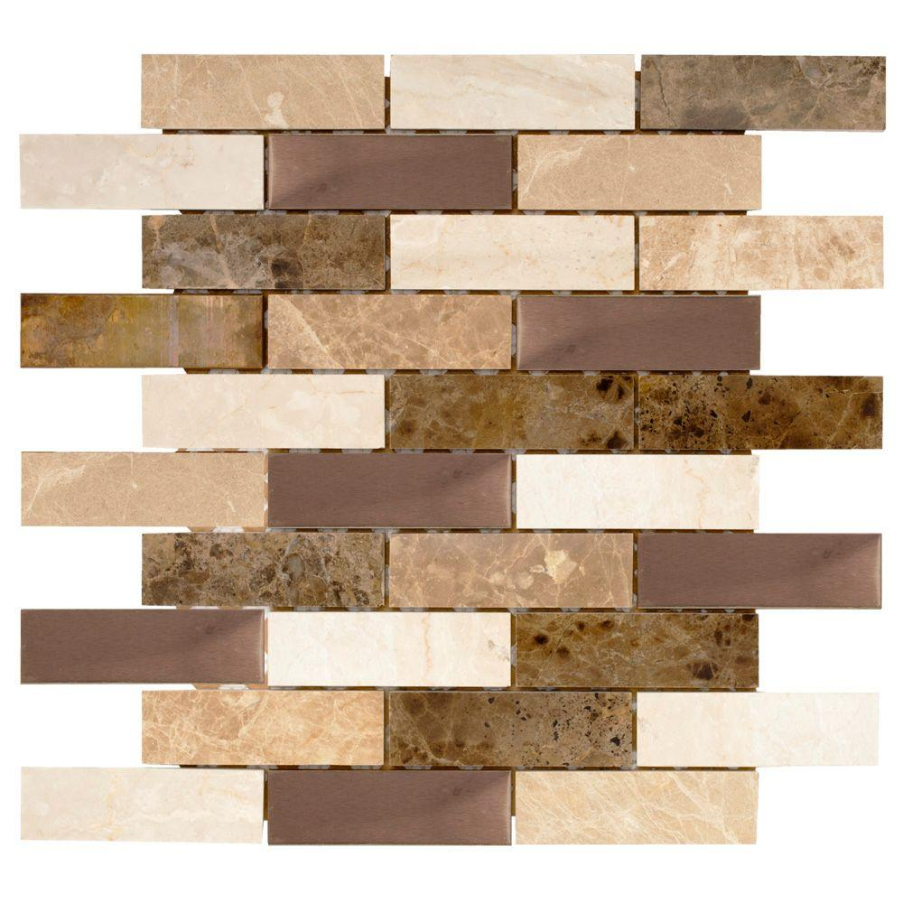 Jeffrey Court Copper Canyon 12 In. X 12 In. X 6 Mm Copper