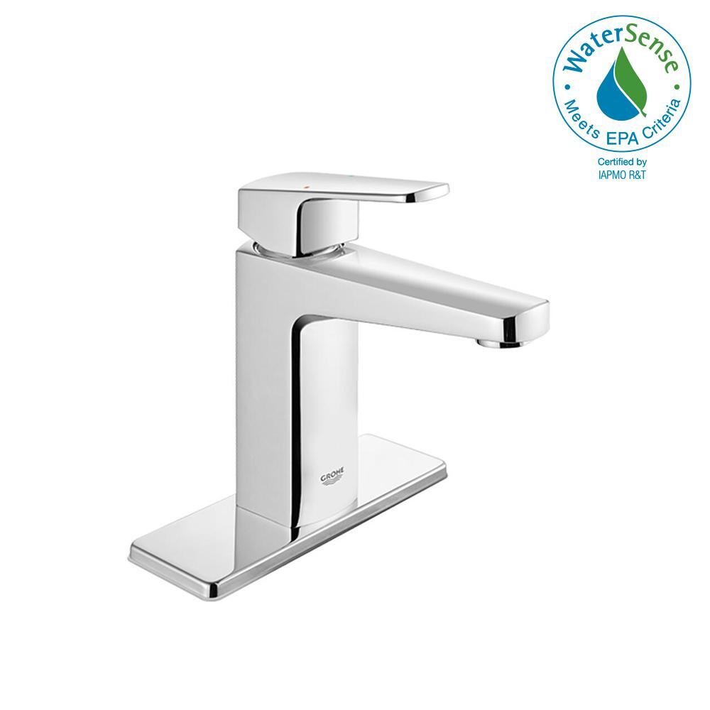 GROHE. Tallinn 4 in. Centerset Single-Handle Bathroom Faucet in Starlight Chrome