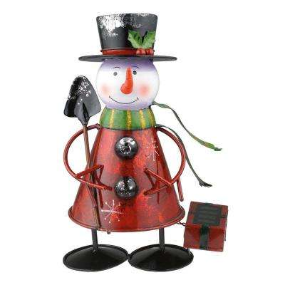 Solar LED Multi-Color Outdoor Snowman Light