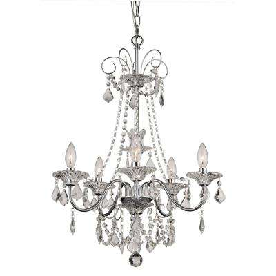 Niagara 5-Light Polished Chrome Chandelier