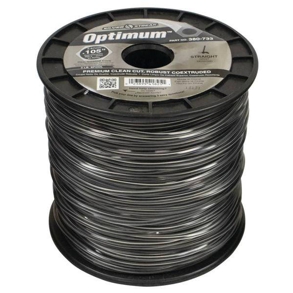 New 380-733 Optimum Trimmer Line for 669 ft. Approximate Length Gray Color 0.105 in. Dia Branded spool Packaging