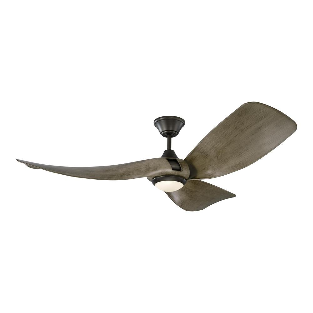 Monte Carlo Melody 56 in. Integrated LED Indoor/Outdoor Aged Pewter Ceiling Fan