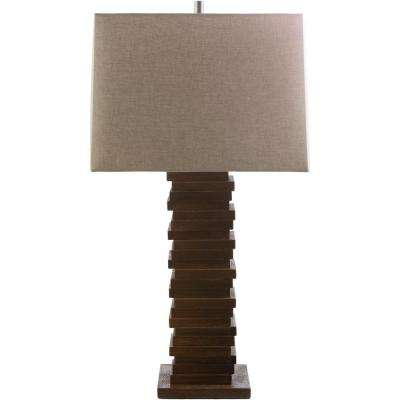 Wilson 30.1 in. Stained Wood Indoor Table Lamp
