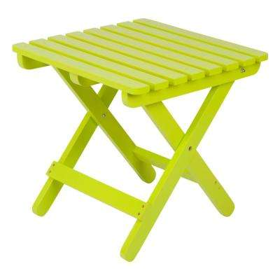 Lime Green Adirondack Square Folding Outdoor Side Table