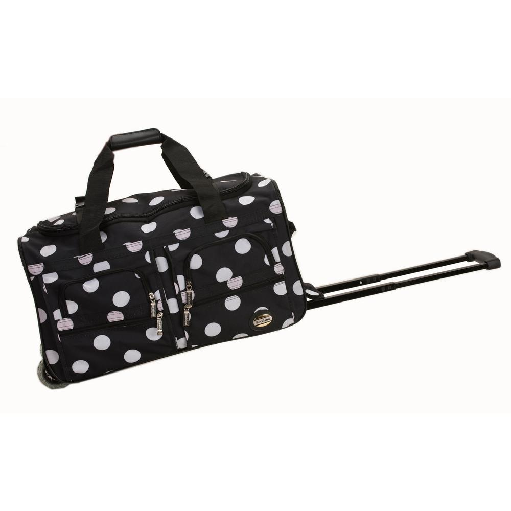 Rockland Voyage 22 in. Rolling Duffle Bag, Blackdot