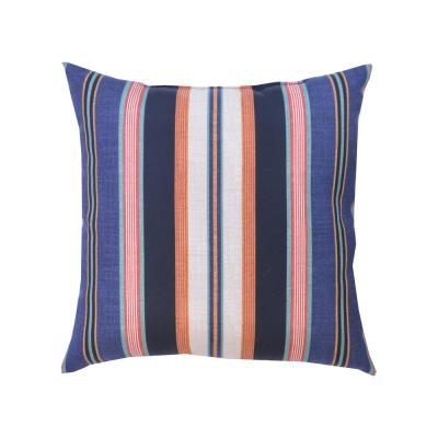 Caprice Stripe Square Outdoor Throw Pillows (2-Pack)