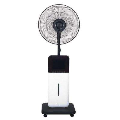 18 in. Oscillating Ultrasonic Dry Misting Fan with Bluetooth Technology and Built-In Speakers