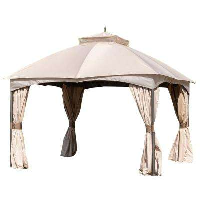 Riplock 350 Replacement Canopy Top and Side Mosquito Netting Set in Beige for 10 ft. x 12 ft. Turnberry Gazebo