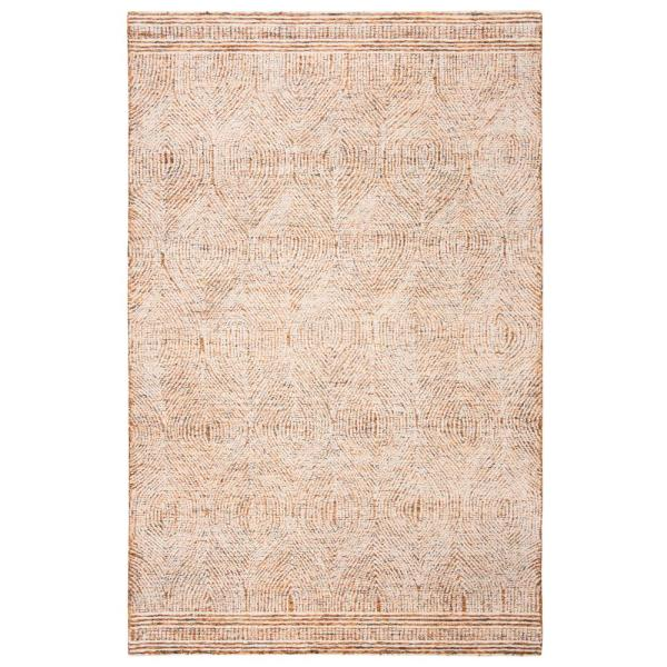 Safavieh Abstract Ivory Rust 5 Ft X 8 Ft Area Rug Abt340p 5 The Home Depot