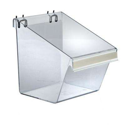 8 in. W x 6 in. D x 9 in. H  Display Bucket With C-Channel (4 Pack)